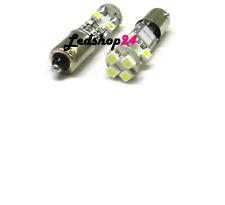 X2 BA9S LAMPADE LED T4W CANBUS 8 SMD PIEDI DIRITTI 12V 6000K EFFETTO XENON **