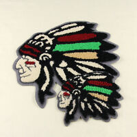 Native American Indian Chief Head Embroidered Iron On Patch Applique Jacket