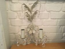 Very Pretty Pair of Metal Wall Sconces
