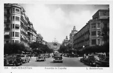 RPPC SAN SEBASTIAN Avenida de España L Roisin-Foto Madrid Vintage Photo Postcard