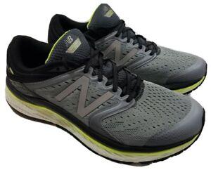 New Balance-Mens Size 12.5~Gray/Yellow Fresh Foam M1080GY8 Running Shoes Sneaker