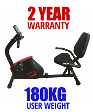 FREE POST New Endurance Recumbent Exercise Bike Magnetic HEAVY DUTY Home Gym