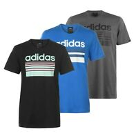 Mens Adidas Short Sleeves Crew Neck Horizon Linear T Shirt Sizes from S to XXL