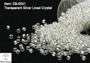 Miyuki Delicas 11/0 Transparent Silver Lined Crystal Seed Beads DB-041