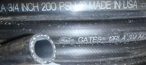 "10 Foot Length 3/4"" Hydraulic Return / General Purpose Hose Gates 12 RLA 1-BR..."