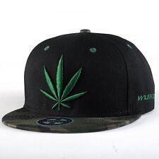 Snapback Hats unisex Baseball Hip Hop trucker cap green weed leaf break dancer