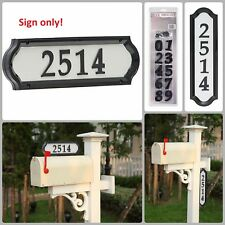 Reflective Address Sign Mailbox Wall Sign Vertical Horizontal Two Sided