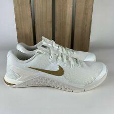 Nike Metcon 4 CHMP White Sail Metallic Gold AV2141 120 Women's SIZE 10 NEW *
