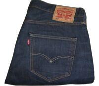 Hombre Levi's 501 Azul Oscuro Jeans de Mezclilla W36 L32 Pierna Recta