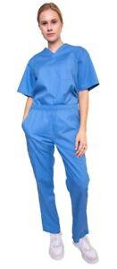 Medical Nursing Scrub Women Men Unisex Medical Workwear Top Pants & Set