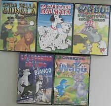 """Pacchetto Cartoni Animati """"Gli Animali"""" (5 DVD - Nuovi)"""