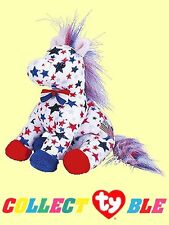 """Ty® 7"""" Lefty 2004 Patriotic Beanie Babies® Donkey MINT #40045 COLLEC-Ty-BLE"""