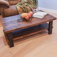 E Mark Handmade Modern Farmhouse Coffee Table | Solid Wood |Made in USA