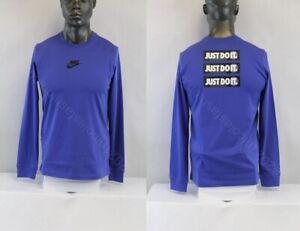 Nike MEN L/S NIKE SPORTSWEAR JUST DO IT T-SHIRT BLUE/MULTICOLOR CU7390-430