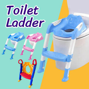 Kids Toilet Ladder Baby Toddler Training Toilet Step Potty Seat Non Slip Trainer