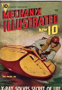 1939 Mechanix Illustrated June - X-Rays; Modern aerial warfare;Plastics;Bullfrog