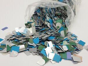 1lb Aluminum Craft Thin Sheet Scrap Metal Chip Jewelry Flat White Blue Green
