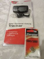 Sportline Distance & Step & Calorie Pedometer SB1062BK BLACK + New Battery