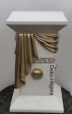 Säule Medusa Stuckgips Dekosäule Podest Säulen Tisch Deko Möbel 1034 Crem Gold +