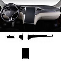 Interior Center Console Carbon Fiber Molding Sticker Decals For Tesla Model X/S