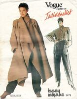 VOGUE Misses' Coat,Shirt&Pants Issey Miyake Pattern 1476 Size 12