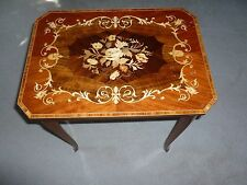 """Italian vintage curio jewelry stand handmade in Italy wood 20"""" accent table"""