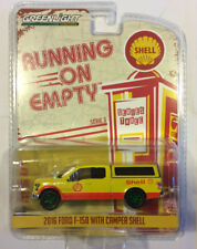 Greenlight 1:64 Running on Empty 2016 Ford F-150 with Camper Shell GREEN MACHINE
