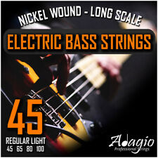 More details for electric bass guitar strings light gauge 45-100, power / swing adagio pro series