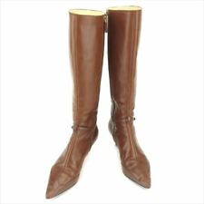 Gucci boots Interlocking Brown Woman Authentic Used T7246