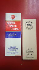 KING Deluxe Water Stone Gold G-3 Grit 8000 Aluminium Oxide Super Finish Stone