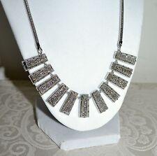 New $395 Kendra Scott ANGELINA Silver Druzy Bib Necklace Statement