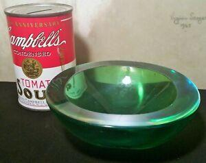 MCM URANIUM vtg murano table art glass bowl sculpture car keys coin watch caddy