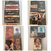 Rock Metal Cassette Tape Lot Bon Jovi Lynard Skynyrd ZZ Top Steely Dan