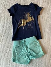 Euc Girls Size 4 Outfit Shorts T-shirt Top OshKosh Place