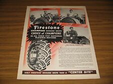1948 Print Ad Firestone Tractor Tires National Plowing Champions