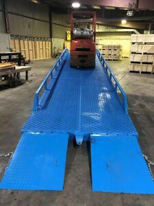 "Yard Ramp, Trailer loading Dock, Forklift Ramp, 35 Ft Long 83""W 22000 Lbs Capcty"