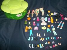 Polly Pocket Green Plastic Flower Shaped Carrying Case, Dolls & Accessories- Bin