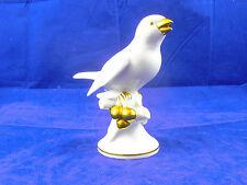 Gerold&Co. Vogel Porzellanvogel  weiß mit Gold 20er - 30er Jahre NPT