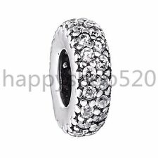 Crystal cz Silver charm space bead For European s925  bracelet chain bangle