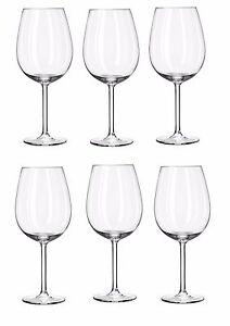 Large red wine white wine ALEGRA Royal Leerdam glasses 730ml box of 6 RRP £24.99