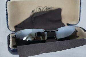 Maui Jim MAKAHA MJ 405-02 Sport Sunglasses Black & Gray W/ MJ Case