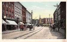 Plattsburg New York Margaret Street Scen Historic Bldgs Antique Postcard K31907