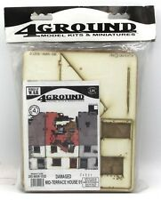 4Ground 28S-WAW-103D Damaged Mid-Terrace Type House #1 28mm World At War Terrain