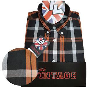 Rare Warrior UK England Button Down Shirt MALICE Hemd Slim-Fit Skinhead Mod