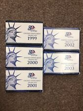 Lot of 5 (FIVE) United States Mint Proof Coin Sets + 1999 thru 2003