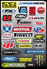 29 stickers autocollants logo Moto FX4