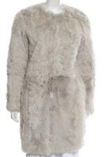 Robert Rodriguez Lamb Fur Grey Coat SZ S - NWOT