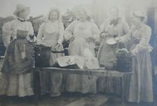 Antique Cabinet Photo 1890's 5 Ladies Laughing Making Ice Cream Western PA