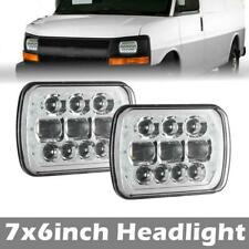 """Pair 7x6"""" Sealed LED Headlight For Chevy Express Cargo Van 1500 2500 3500 Truck"""