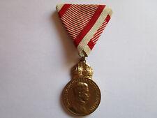 Österreich K.u.K. Monarchie Goldene Militärverdienstmedaille  am Dreicksband